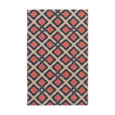 Red & Tan Tessa Cotton Carpet