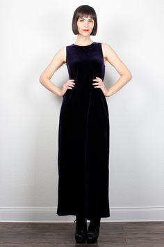 Vintage 90s Dress Dark PURPLE Velvet Dress Maxi Dress 1990s Dress Velour Soft Grunge Dress Bandage Dress Bodycon Dress M Medium L Large by ShopTwitchVintage #vintage #etsy #90s #1990s #dress #maxidress #maxi #velvet #grunge #softgrunge