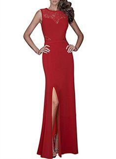 Miusol® Women's Floral Lace Sleeveless Vintage Long Dress
