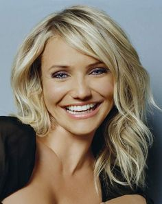 cameron diaz medium length tousled hair