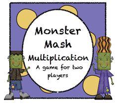 Pitner's Potpourri: Monster Mash Multiplication