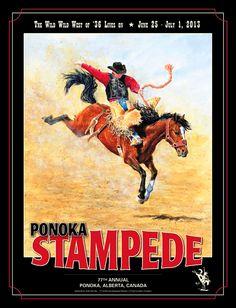 Ponoka Rodeo Poster