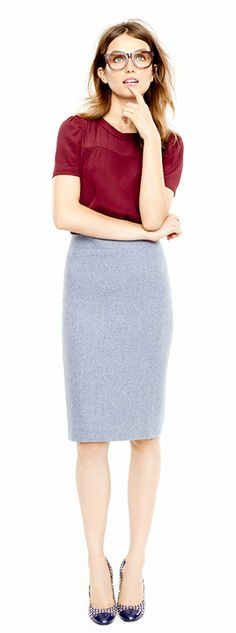 J Crew Office Look!  Modest and flattering!  For more on dressing for the office, visit my website:http://www.imagedesignconsulting.com