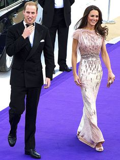 A stunning gown on Kate Middleton.