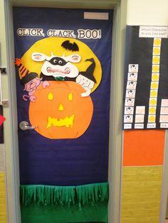 Great literature based Halloween door decor