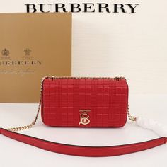 Burberry Small Quilted Lambskin Lola Bag In Red Outlet Burberry Cheap Sale Store Burberry Outlet Online, Cheap Burberry, Small Quilts, Buy Cheap, Shoulder Strap, Zip Around Wallet, Hardware, Closure, Pocket