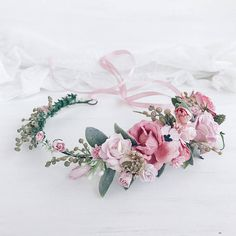 Flower crown Floral crown Bridal flower crown Wedding