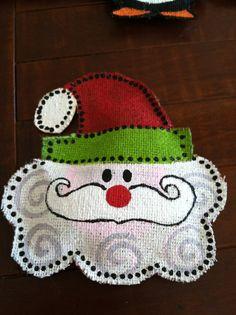 Christmas Ornament Mini Door Hanger by GoatsandGlitter on Etsy, $10.00