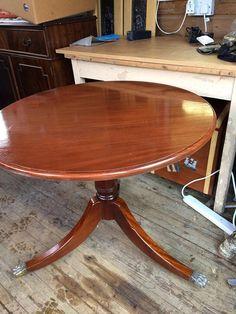Refurbished Victorian  Mahogany Tea Table
