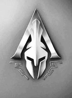 Spartan Shield, Spartan Logo, Spartan Tattoo, Back Tattoos, Body Art Tattoos, Tribal Tattoos, Sleeve Tattoos, Assassins Creed Logo, Greek Mythology Tattoos