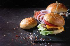 Homemade Burger by Natasha Breen on @creativemarket