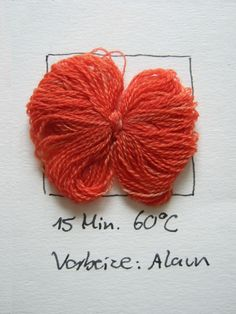 colouring wool with Rubia tinctorum Natural Dyeing, Fibres, Knitting Yarn, Colouring, Crochet, Wool, Band, Canvas, Loom Knit