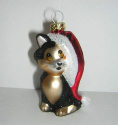 Disney Pinocchio Figaro Cat Christmas Glass Ornament | eBay