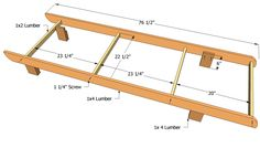 Lounge chair frame plans