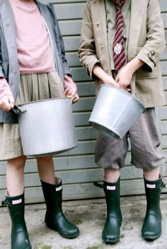 ties and wellies