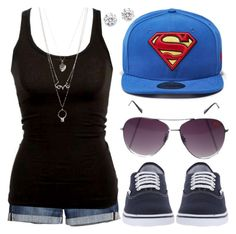 """Conjunto #876"" by laarochaa ❤ liked on Polyvore featuring H&M, Kenneth Jay Lane, New Era, Vans and Charlotte Russe"