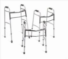 Deluxe Walker Each side operates independently to provide easy movement through narrow spaces and greater stability when standing up, while the front cross Mobility Aids, 5th Wheels, Adjustable Legs, Hamilton, Personal Care, Easy, Button, Latex Free, Braces