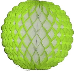 """Adorable lime puff ball available in 8"""" and 14"""". I love pairing the puff balls with the regular honeycomb balls. It creates such an interesting effect! Made in the USA by Devra Party."""