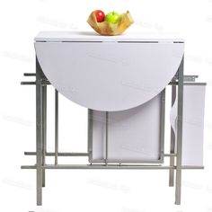 Details About Table Drop Leaf Bar Kitchen Seat Chair Dining Compact Small  Space Island Wheel