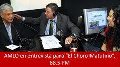 """30 de octubre de 2014, audio de la entrevista, vía telefónica, que concedió #AMLO, presidente del Consejo Nacional de #MORENA, en el programa """"El Choro Matutino"""", que se transmitió por la frecuencia 88.5 FM del estado de Morelos."""