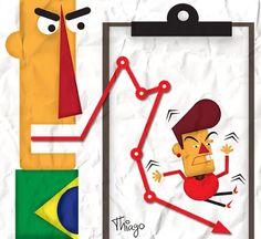 Humor político, presidente Dilma, voto, popularidade, eleição, charge,