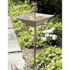 bird feeder stake