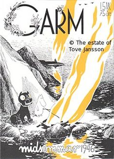 Can you spot the Moomin? 😊 A very early Moomintroll on the cover of the magazine Garm. Tolkien, Tove Jansson, Comic, Museum Exhibition, Illustration, Graphic Art, Art Drawings, Novels, Sketches