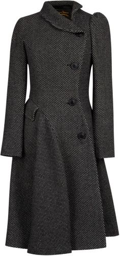Vivienne Westwood Anglomania Storm Coat in Black/Grey #style #coat #fashion