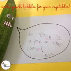 What do you think the veggies are saying?! #eyfs #earlyyears #aceearlyyears…