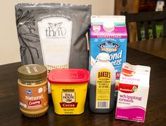 ingredients for Snickers Hot Cocoa - Trim Healthy Mama (S)