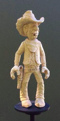 Cowboy wood legno scultura