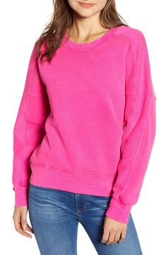 Stateside Neon Pullover Color Trends, Hue, Color Pop, Nordstrom, Neon, Mens Fashion, Pullover, Sweatshirts, Long Sleeve