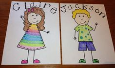 Design Your Own Kid Posters for Back to School bulletin board :)
