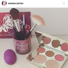 @aneesa.osman loving her glitter brush holder  The pink Makeup Addict and Lipstick Junkie seems to be the popular ones  Shop online at http://belleblushh.com  #belleblushh #makeup #makeuplover #makeupjunkie #makeupstash #makeupfix #blogger #beautyblogger #bbloggers #instagood #instadaily #love #glitterholder #brushholder #makeupbrushholder #makeupbrushes #