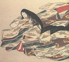 Ono no Komachi (a poet) -- look at the hair and fabric!