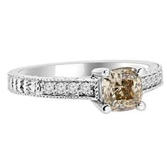 Jewelry Point - 1.19ct Champagne Diamond Engagement Ring Antique Style, $2,690.00 (http://www.jewelrypoint.com/1-19ct-champagne-diamond-engagement-ring-antique-style/)