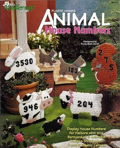 Animal House Numbers Plastic Canvas Pattern  by grammysyarngarden, $5.00