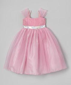 Pink & Silver Dress - Girls by Princess Diaries #zulily #zulilyfinds
