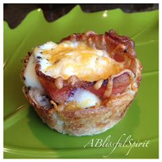 A Blissful Spirit : Bacon and Egg Breakfast Muffin Cups