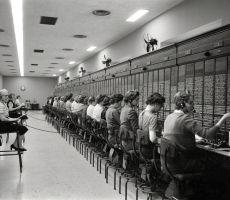 1950s telephone operators..