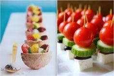 Mini Greek Salads &  Mini Pita Pockets