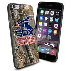 Chicago White Sox MLB Camo Logo WADE5812 Baseball iPhone 6 4.7 inch Case Protection Black Rubber Cover Protector WADE CASE http://www.amazon.com/dp/B013XGFFJ8/ref=cm_sw_r_pi_dp_ArdCwb0XQ499P