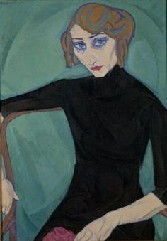 """huariqueje: """"Seated Woman - Leo Gestel , 1912 Dutch, Oil on canvas """" Figurative Kunst, Modernisme, Dutch Painters, Dutch Artists, Fashion Mode, Outsider Art, Cubism, Female Art, Online Art"""