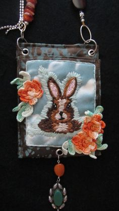 Items similar to Brown Bunny on Etsy Inventions, Hand Embroidery, Bunny, Trending Outfits, Wallet, Unique Jewelry, Handmade Gifts, Brown, Crafts