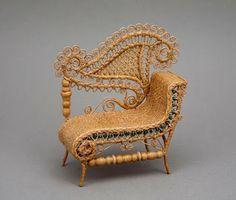 Rhea Strange | Highly ornamental 1870s Heywood-Wakefield chair.