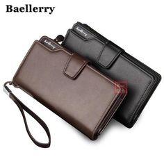 35901f1c644 Men Wallets Top Quality Male Clutch Big Capacity Cellphone Bag Leather  wallet men purse Zipper Pocket