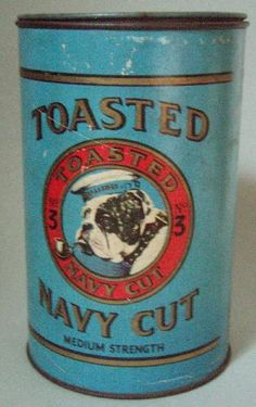 icollect247.com Online Vintage Antiques and Collectables - HARD TO FIND TOASTED NAVY CUT ADVERTISING TOBACCO TIN