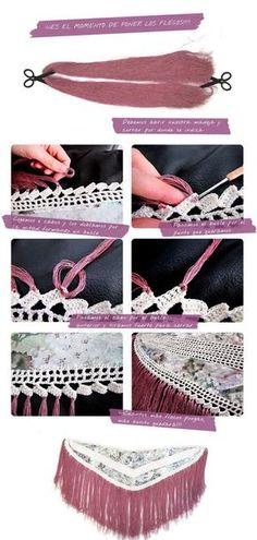 Mantoncillo de flamenca- Tutorial paso a paso Doll Dress Patterns, Dress Making Patterns, Lace Patterns, Poncho Au Crochet, Crochet Wool, Flamenco Costume, Belly Dance Costumes, Crochet Diagram, Boho Diy