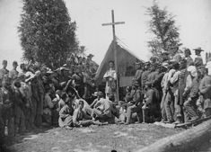civil-war- Chaplain conducting mass for the New York State Militia encamped at Fort Corcoran, Washington, D., Photographed by Mathew B. Military Life, Military History, Military Service, Military Art, American Civil War, American History, Captain American, Maryland, Battle Of Chancellorsville