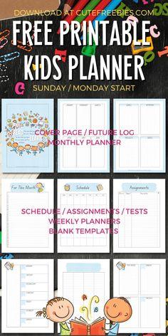Kids Planner, School Planner, Student Planner, Planner Ideas, Printable Letters, Templates Printable Free, Free Printables, Teacher Binder, Teacher Planner